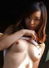Asian lovely is modeling hot clothes