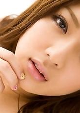 Shiori Kamisaki Strips and Fingers Pink Tits