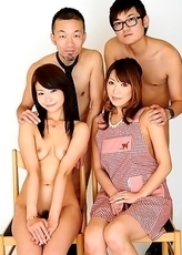 Yuri and Jun like to pose naked