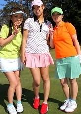Erika, Nao and Kunimi showing off