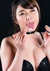 Yui Kawagoe Cum Filled Mouth Group Blowjob