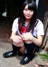 Sayaka Otonashi in school uniform is not in mood for class